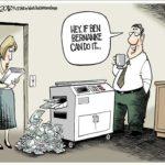 copy machine making money