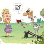 obama chopping down cherry tree