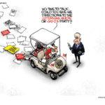 obama in golf cart