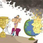 obama polishing nobel prize while globe burns