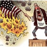 us aid burning flag