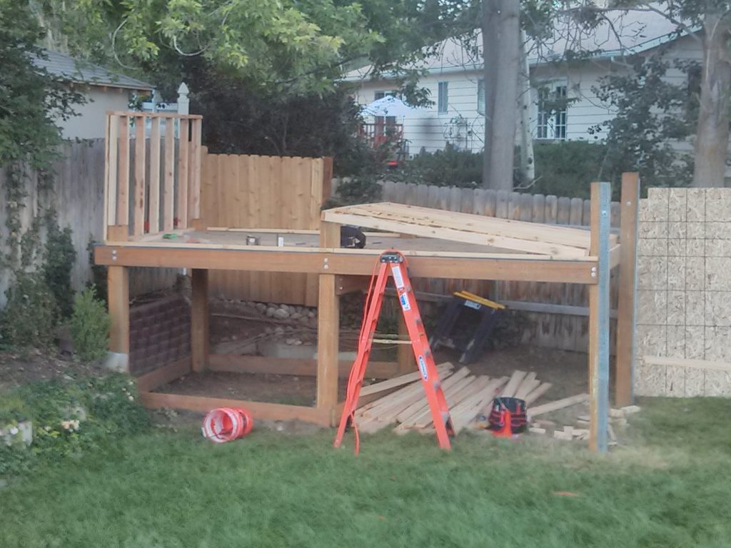 The front wall was framed. This is before I put the plywood on it.