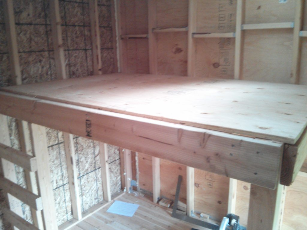 A view of the top of the loft