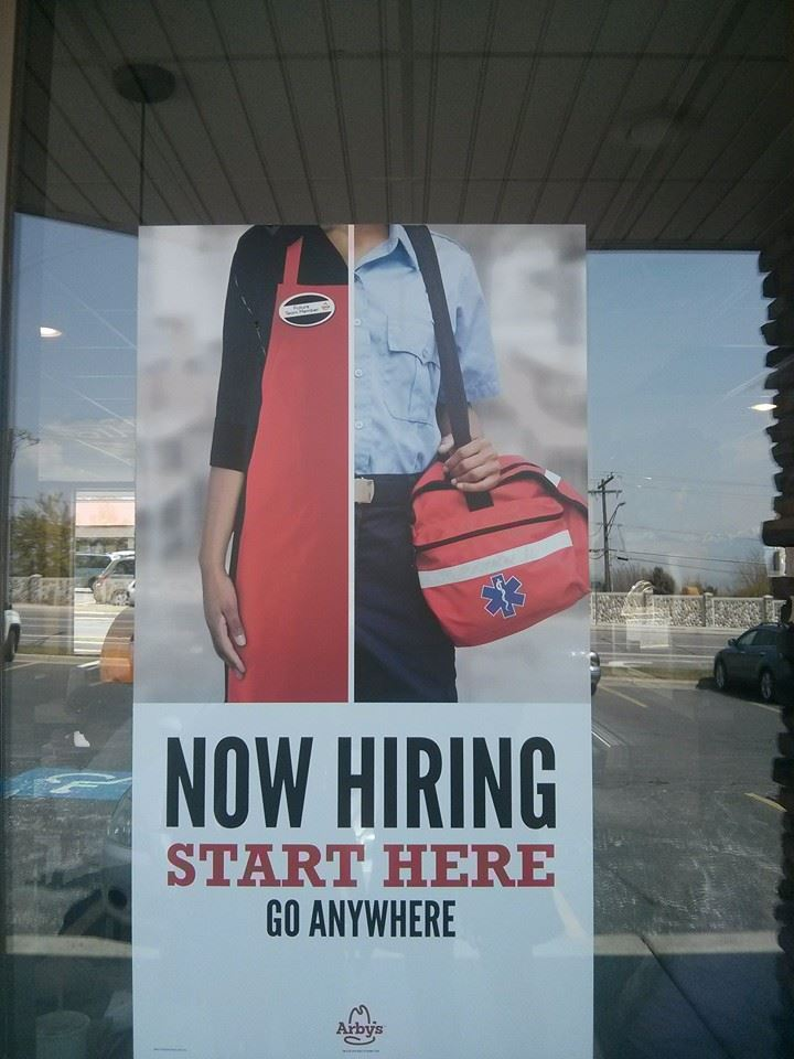 arby's now hiring