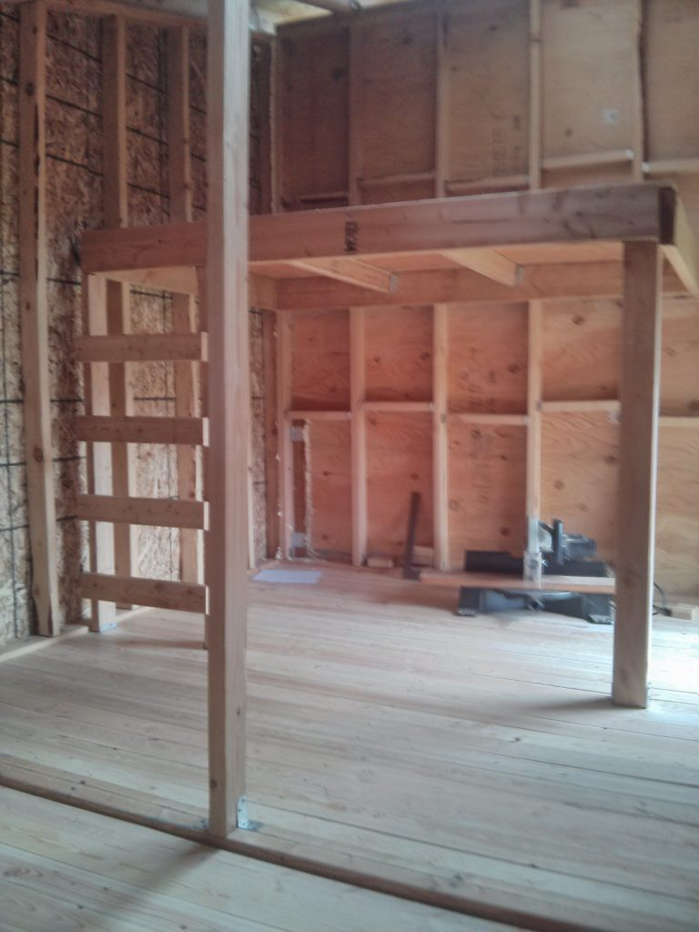 The loft I built on the side of the playhouse with the 8ft hight wall.